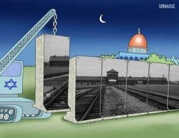 Israeli Apartheid wall cartoon