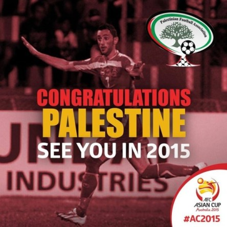 Congratulations Palestine see you in 2015 in Australia, just don't dare ask for asylum here!