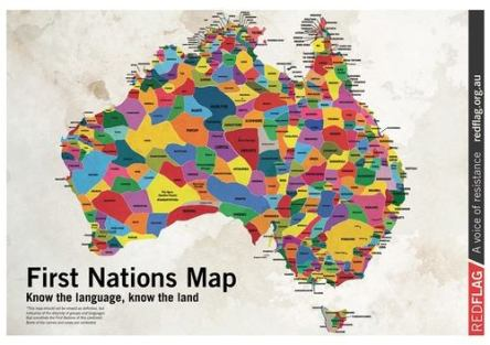 My favourite Map of Australia showing the Aboriginal homeland areas of Indigenous populations, by 'community'.