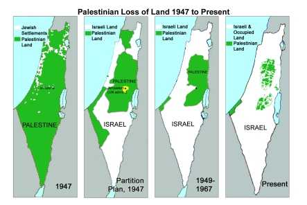 Though many have seen this map sequence it is still not known to most people when they open there mouths about Israels right to exist as a state.