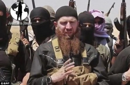Omar al Shishani Chechen military commander of ISIL AP photo