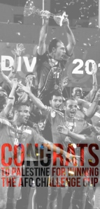 May 2014 Palestinian Soccer team wins AFC Challege Cup