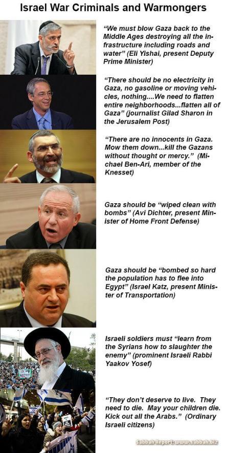 Prominent Israeli's on Gaza