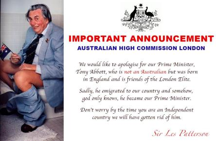 Sir Les apologises for an Abbott
