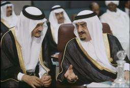 Abbas 1988 ALGERIA. Algiers. Arab Summit opening. 1988. King FAHD bin ABDUL AZIZ...