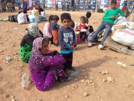 Syrian Refugees at Turkish Border